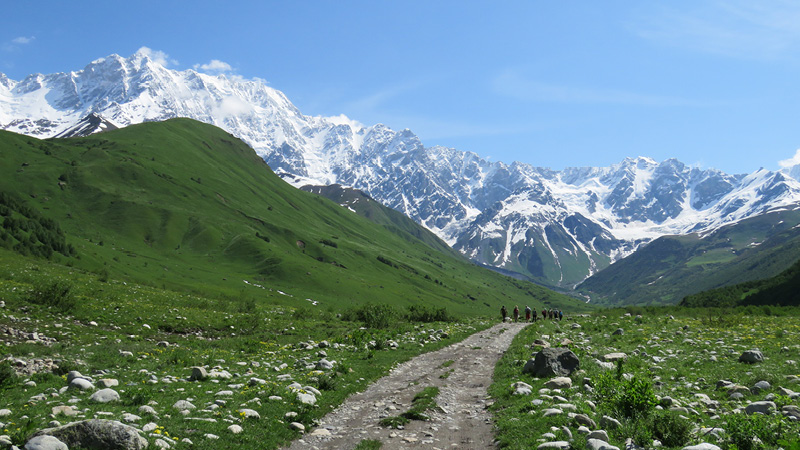 Georgien vandreferie i Svaneti