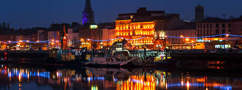 Waterford by night.