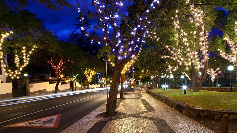 Jul på Madeira, Funchal julelys