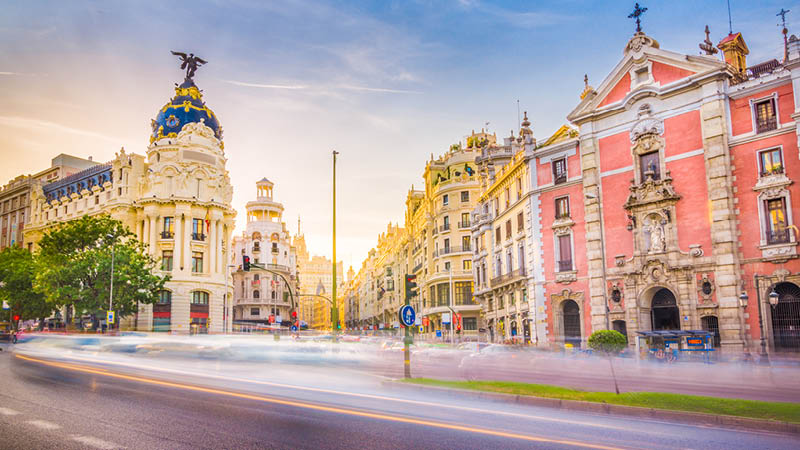 Madrid, Spanien rejse