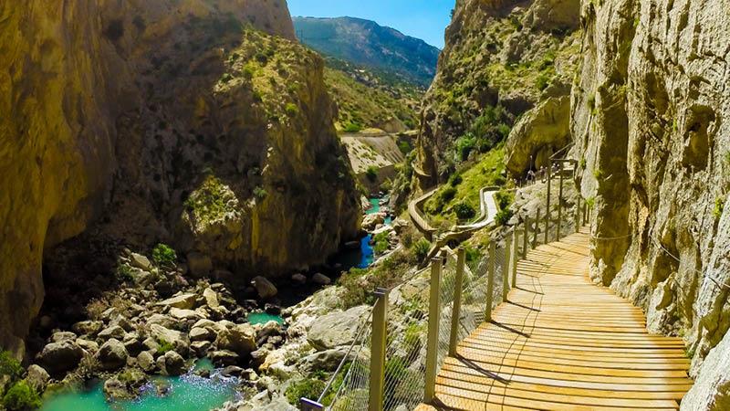 Caminito del Rey - Kongens lille sti - ved Malaga i Andalusien