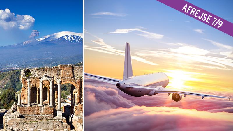 Flybilletter til Sicilien - 1 uge t/r