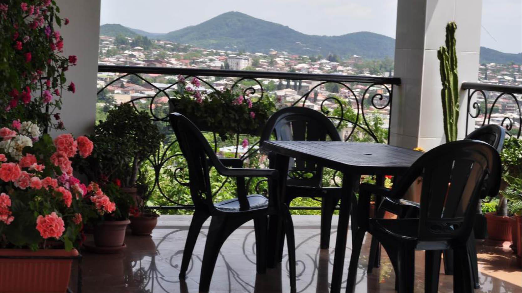 Udsigt fra terrassen på Argo Palace Guesthouse