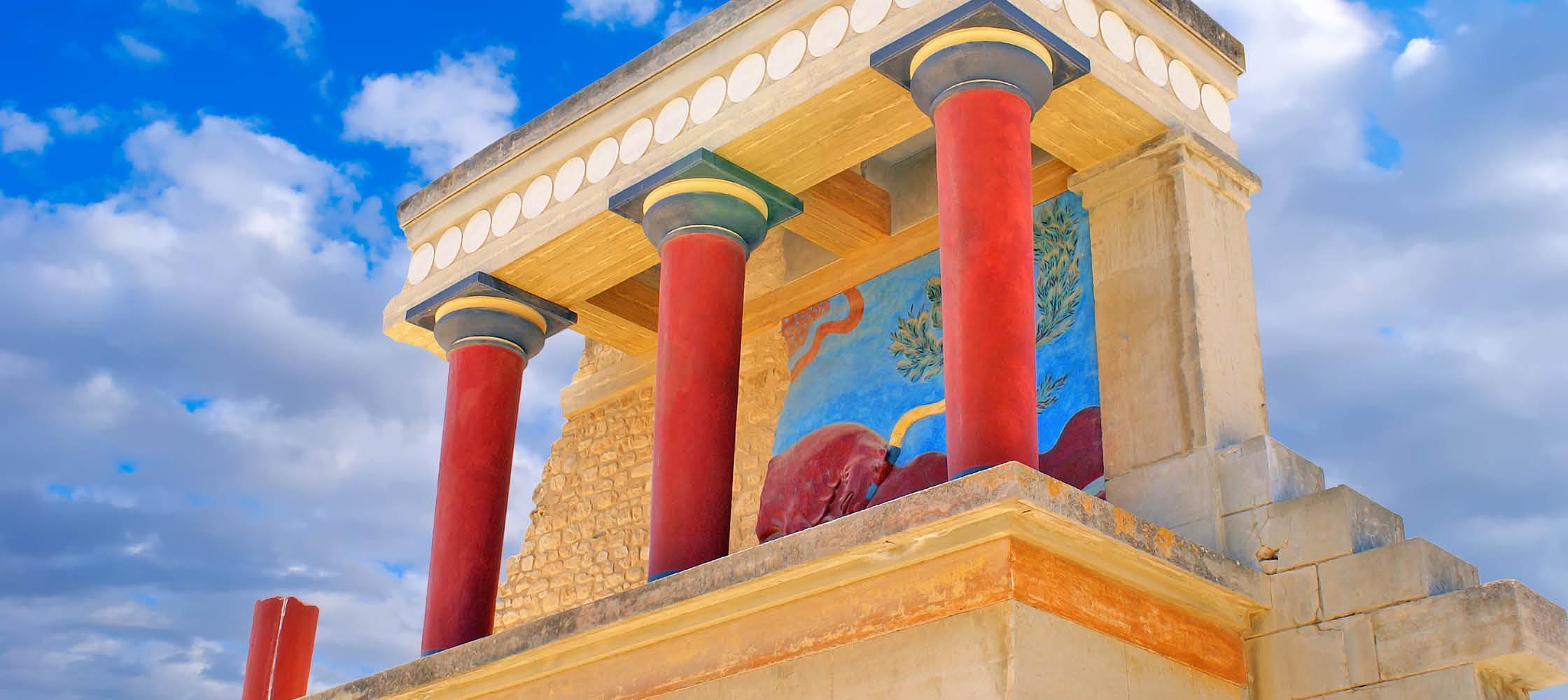 Knossos Palace i Chania på Kreta