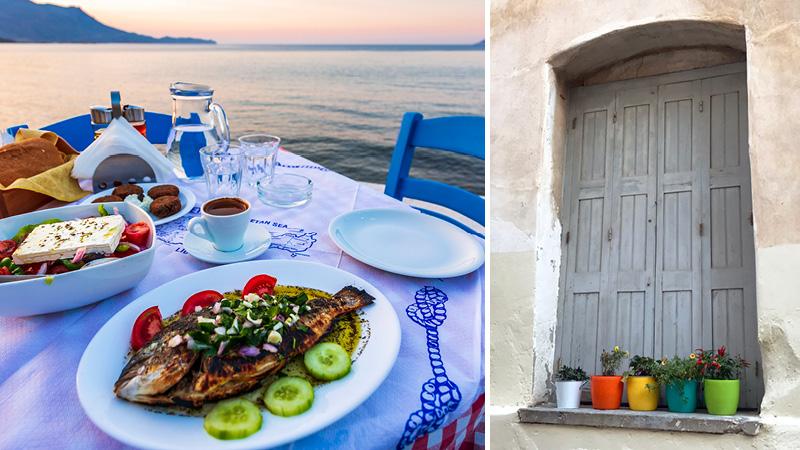 Græsk middag ved Chaniakysten