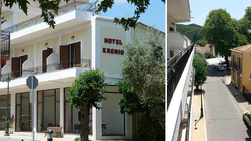 Hotel Kronio i Olympia - set udefra