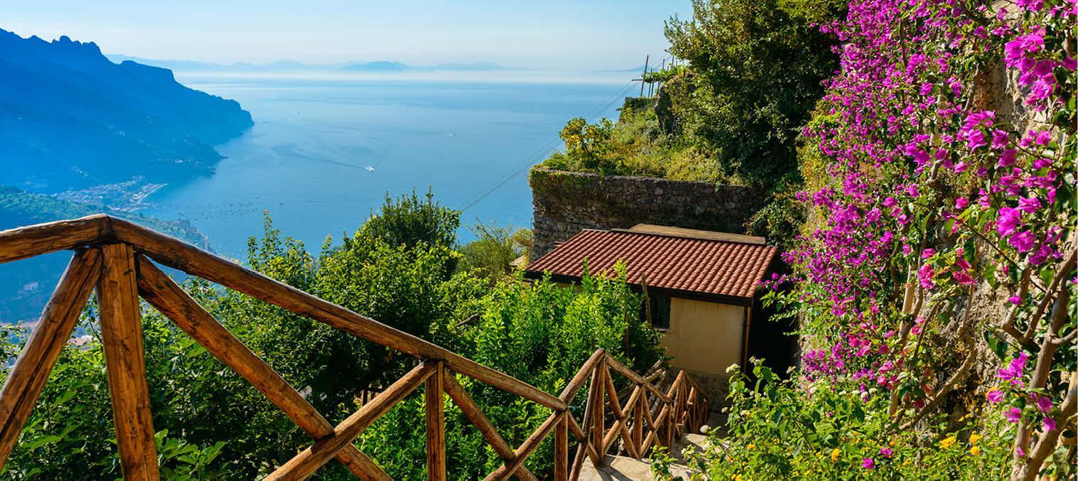 Frodige landskaber på Amalfi