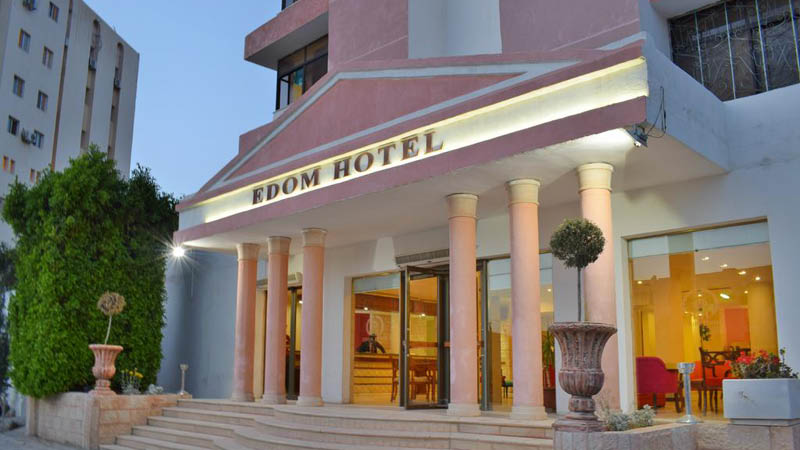 indgang på edom hotel i Petra i Jordan