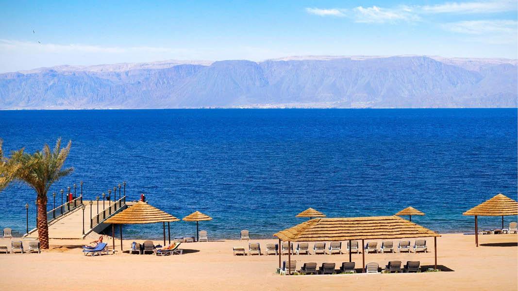 Marina Plaza Hotel Aqaba strand
