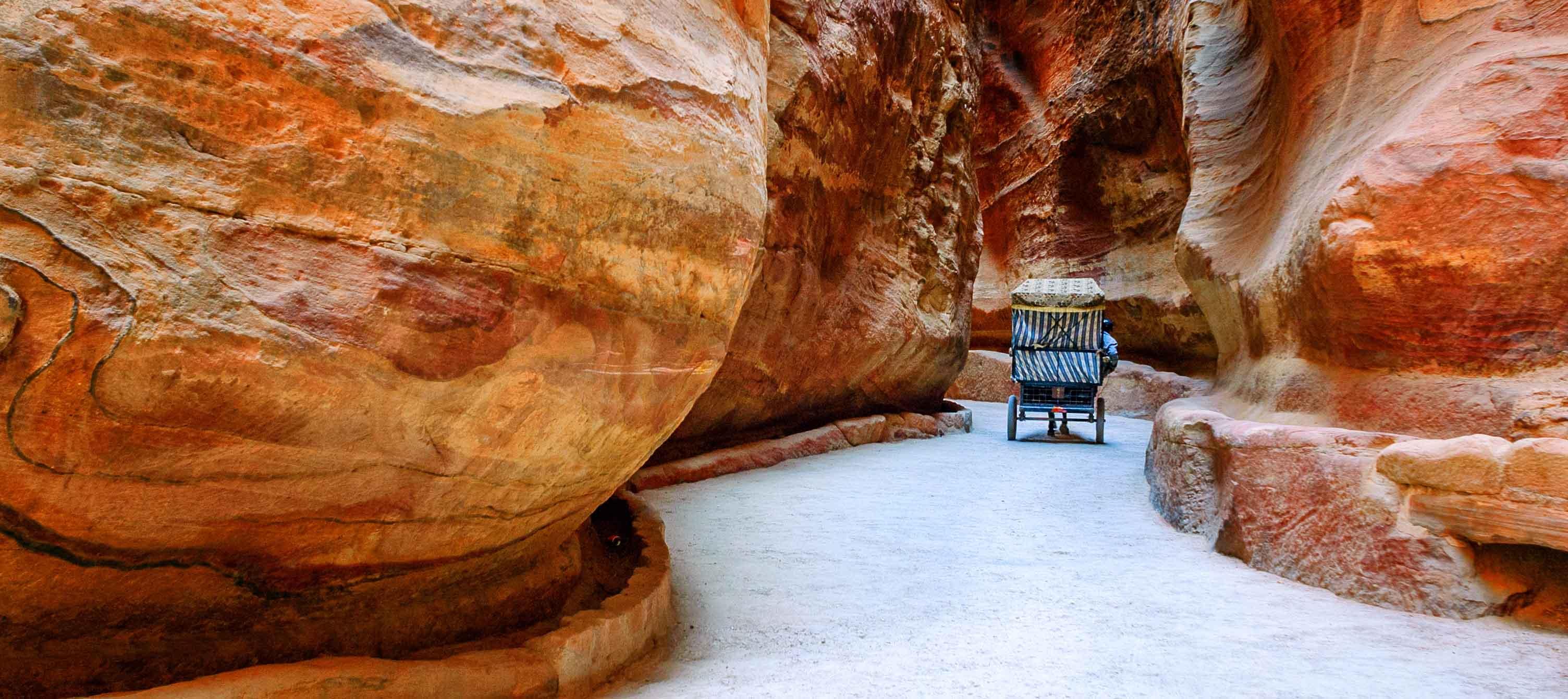 El Siq, vejen til Petra. Jordan