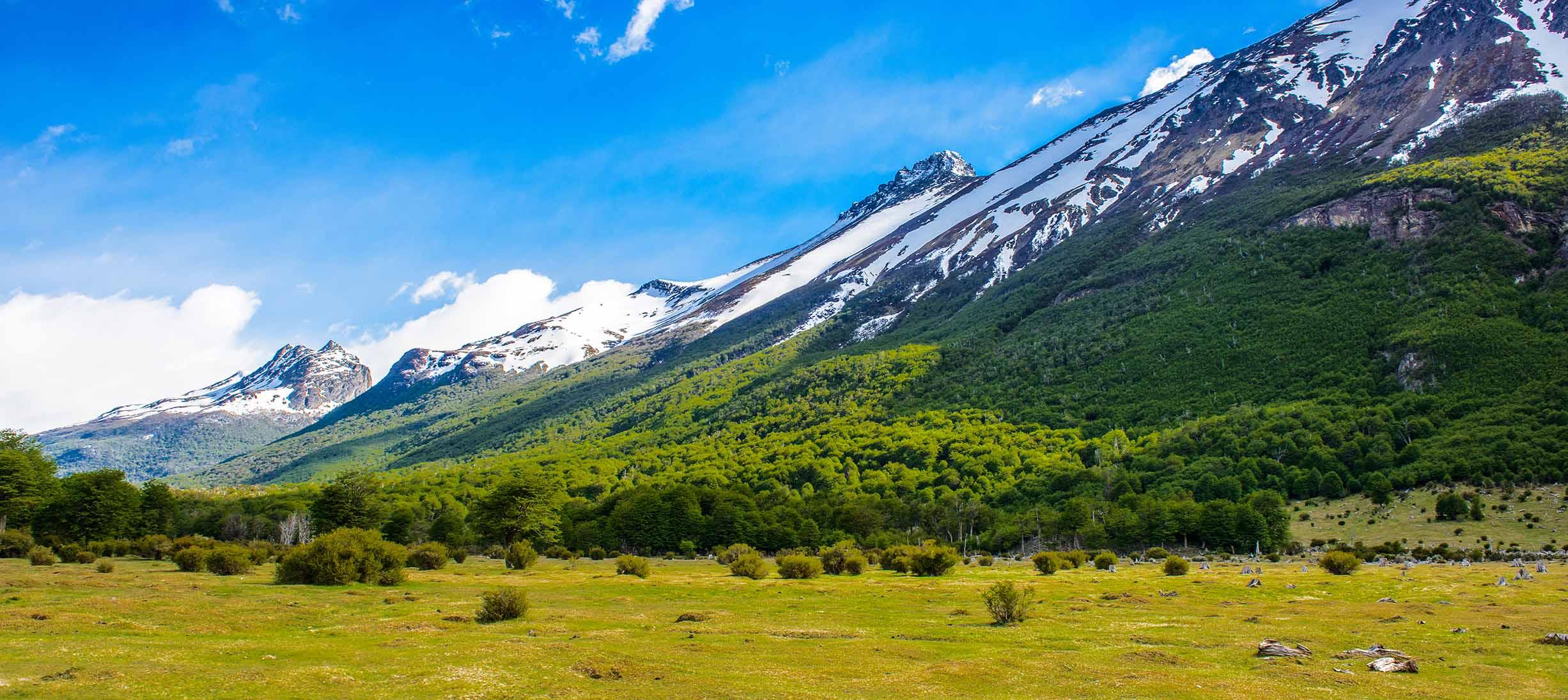 Bjergkæde mellem Chile og Argentina