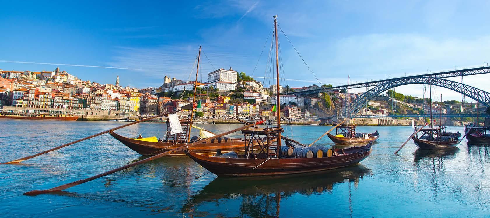 Klassiske både i Porto