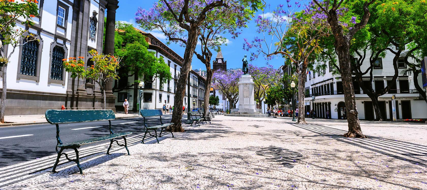 Se bymidten i Funchal på Madeira, Portugal