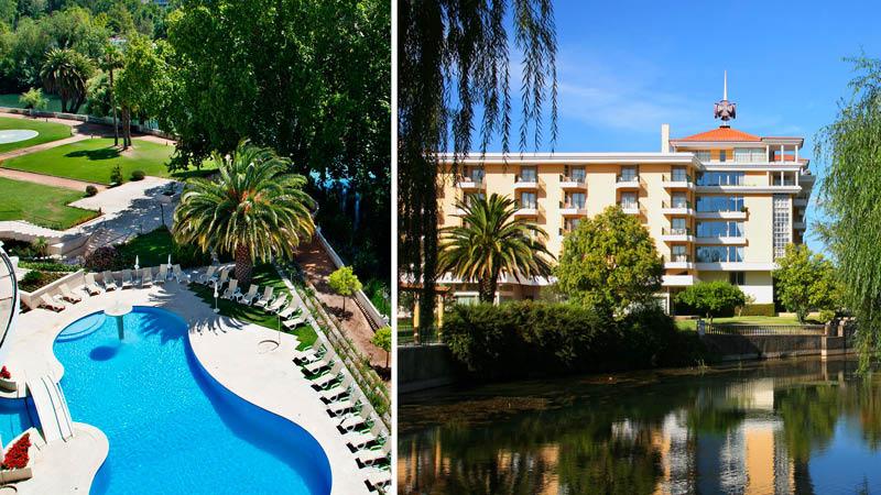 Pool på Hotel Dos Templarios