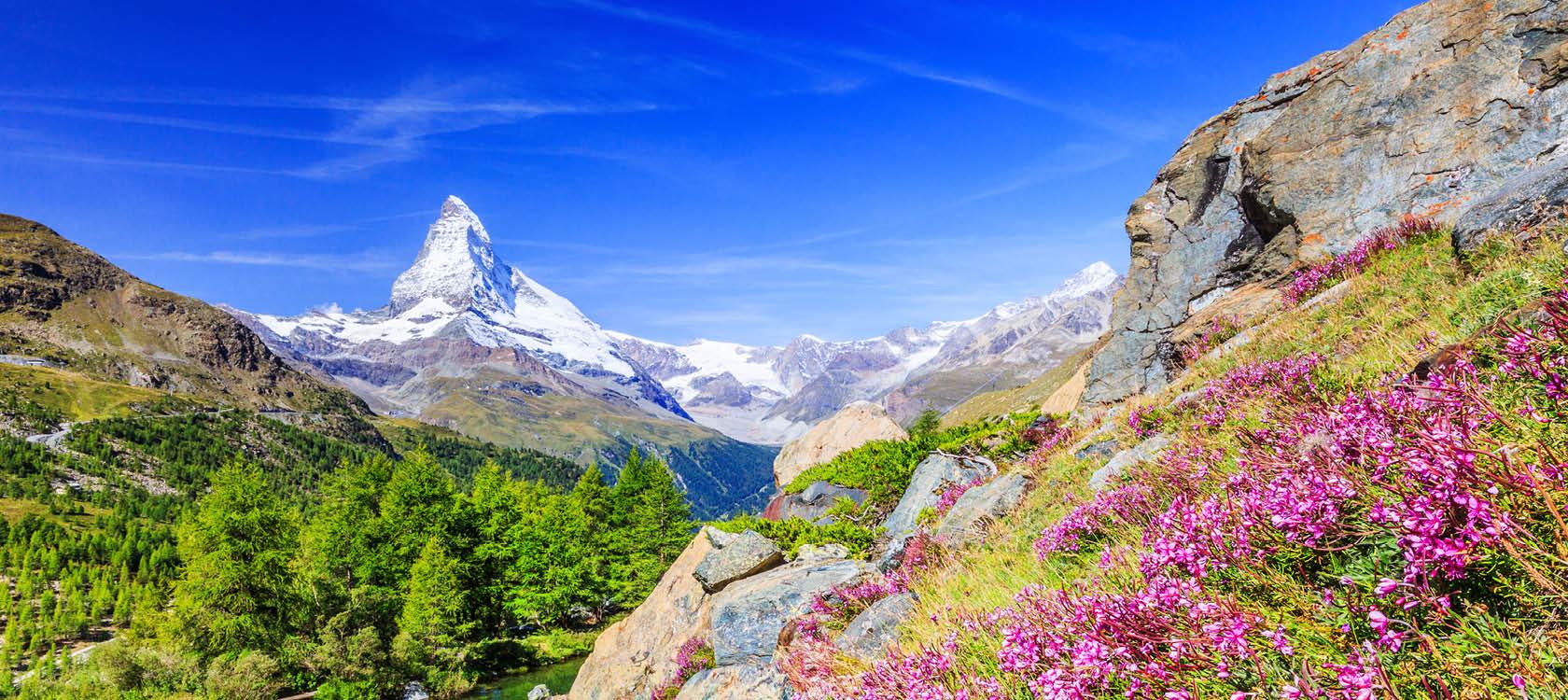 Fantastisk natur og udsigter i Zermatt, Schweiz