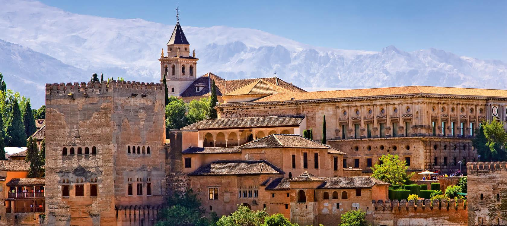 Alhambra i Andalusien, Spanien