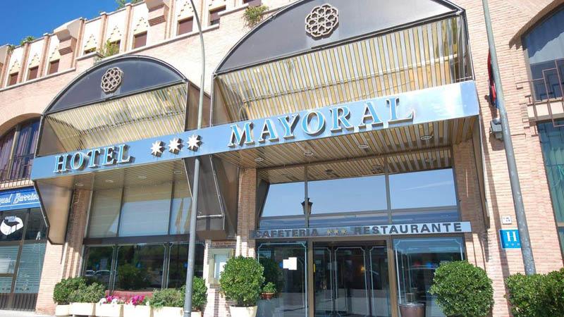 indgang Hotel Zentral Mayoral Toledo Spanien