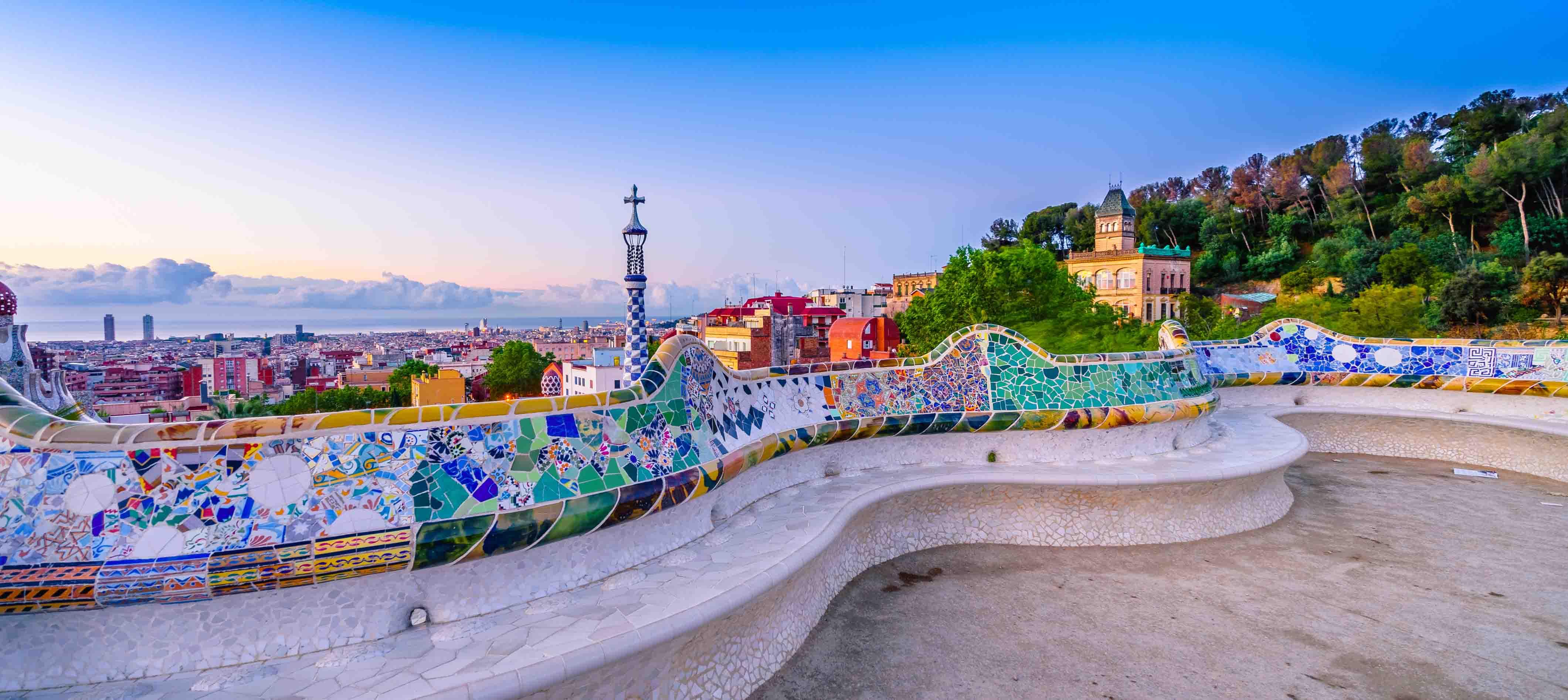 Udsigten over Barcelona i Spanien